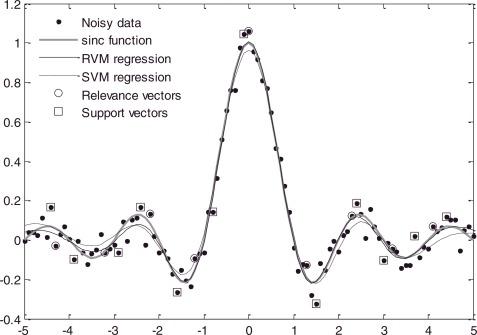 RVM vs SVM support vectors
