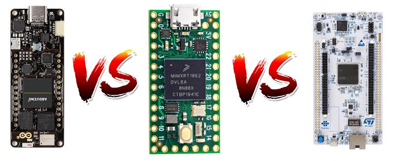 Arduino Portenta H7 vs Teensy 4 vs STM32 Nucleo H743ZI2